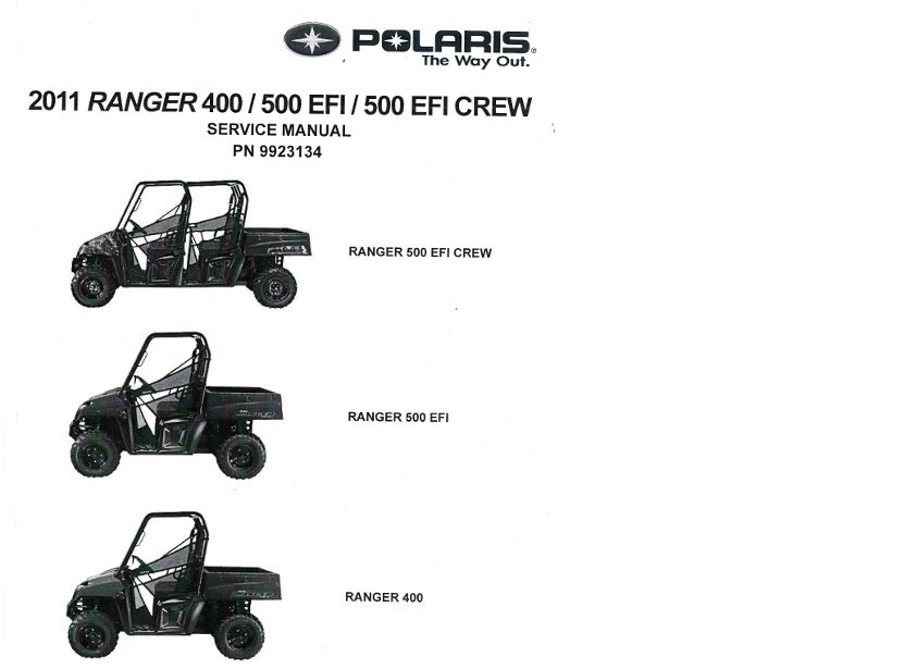 polaris ranger 500 efi service manual pdf